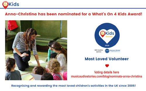 Anna-Christina nominated for a What's On 4 Kids Award