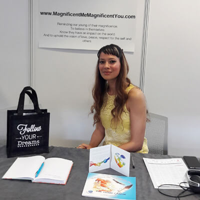 Anna-Christina at the Mindful Living Show held at the Business Design Centre in London