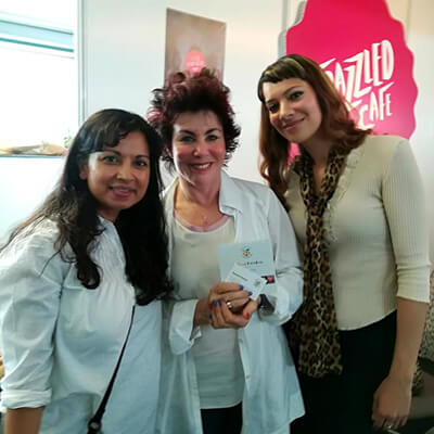 Anna-Christina, Dawattie Basdeo and Ruby Wax at the Mindful Living Show held at the Business Design Centre in London